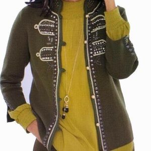 NWT CHICO'S military style cardigan 12